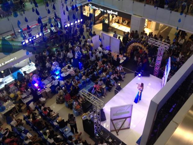 A talent show in the middle of Junction Square mall hosted by a skin care line. This mall is fancier than most malls in the States.