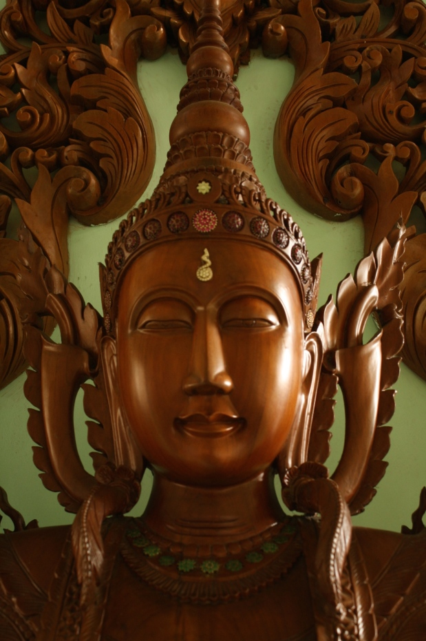 Myanmar is famous for its Teak. This Buddha is about 4.5 feet tall and made from one solid piece of Teak.