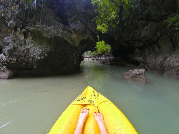 Exiting the lagoon back towards the bat cave.
