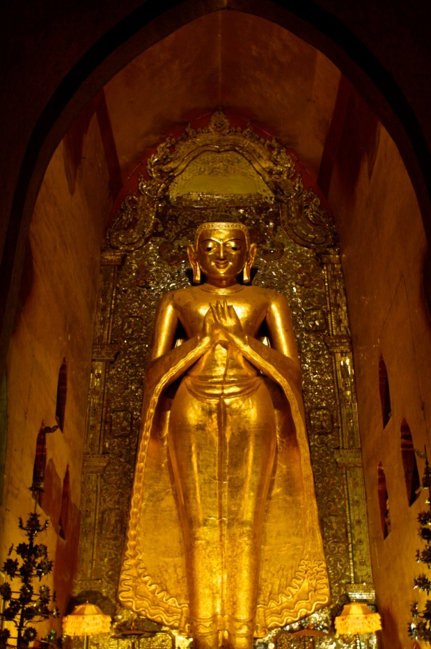This Buddha figure was so large that it was difficult to fit into a photograph.