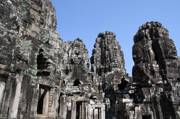 Bayon is so different from Angkor Wat. The temple is tall and compact. I felt so small as I explored all the nooks and crannies. I also felt like I was being watched by the ancient faces that looked down.