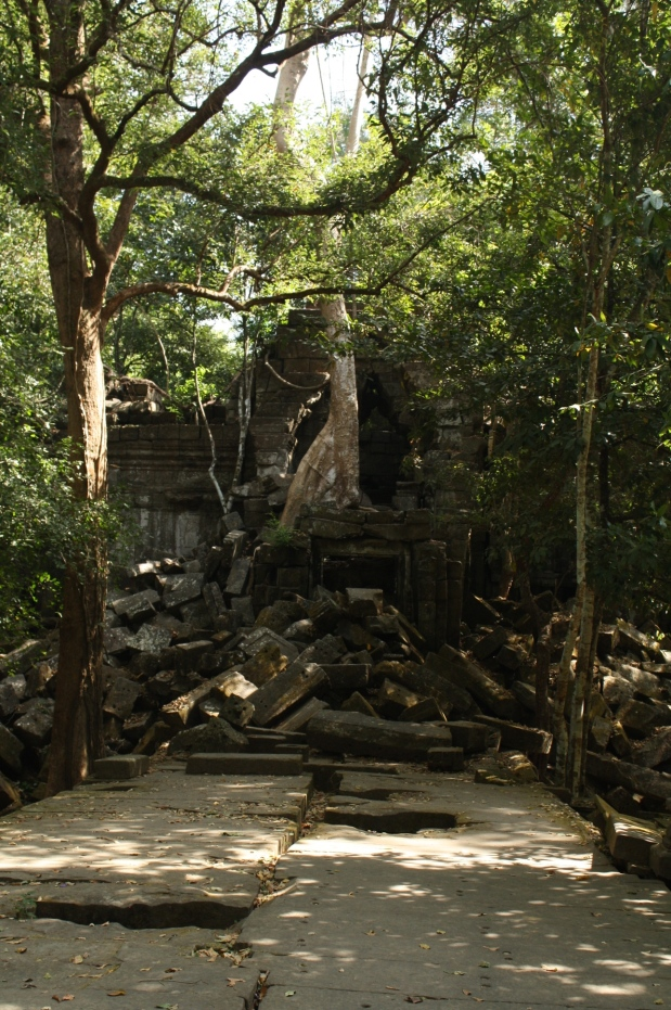 Then we arrived at Beng Mealea - straight out of a Legends of the Hidden Temple episode.
