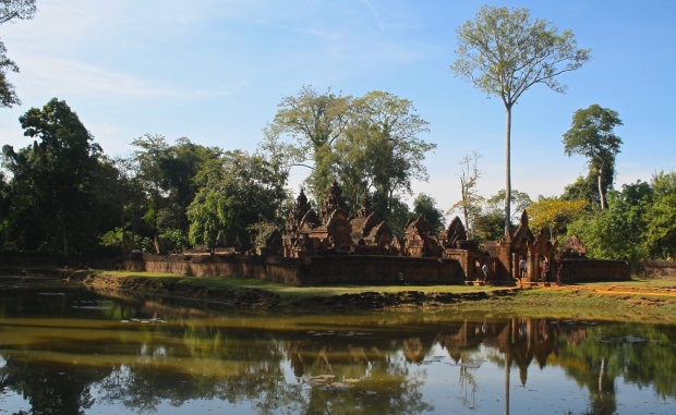 Banteay Srei is not known for its size but rather the intricate carvings that cover most of the red sandstone walls.